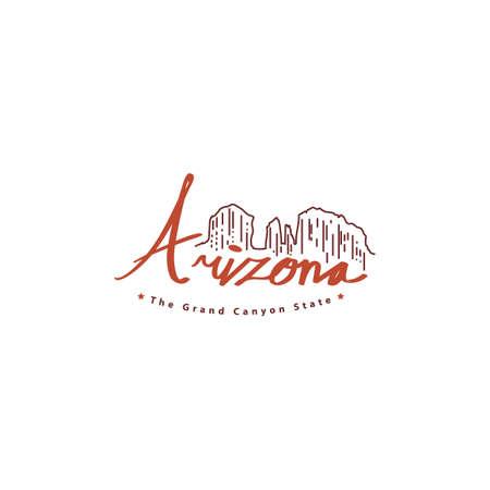 word arizona Illustration