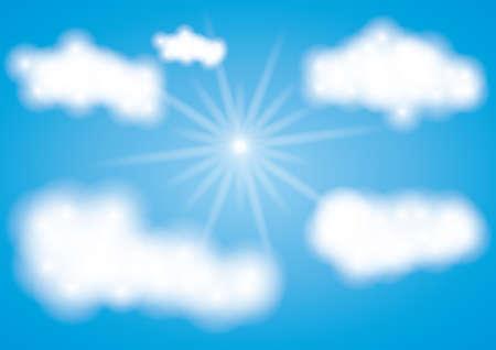 sun with clouds background Zdjęcie Seryjne - 81485689
