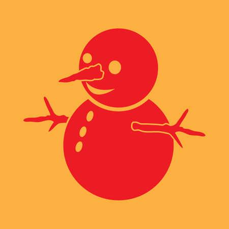 雪だるまのイラストです。