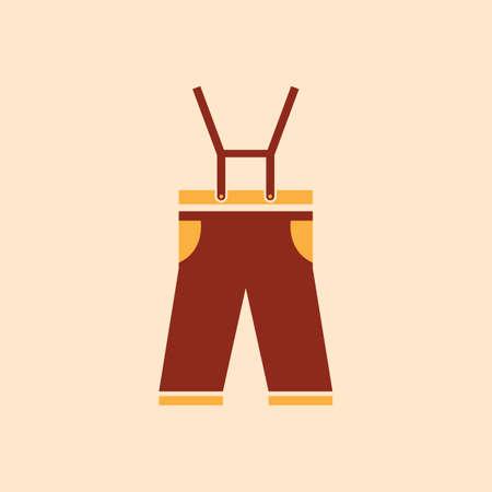Een lederhosen illustratie.