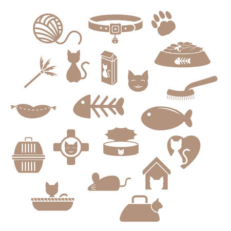 Set of cat icons Stock Vector - 81537440