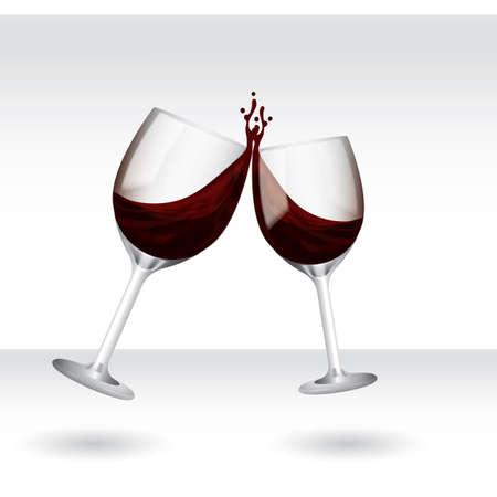 wine glasses Ilustração