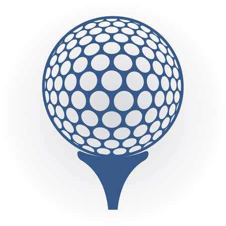 Golf ball on tee 向量圖像