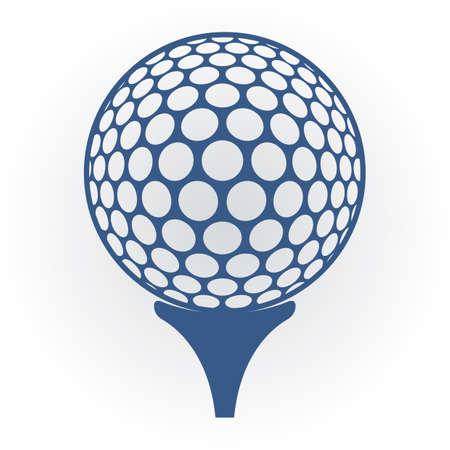 Golfbal op T-stuk Stock Illustratie
