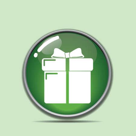 gift box button Illustration