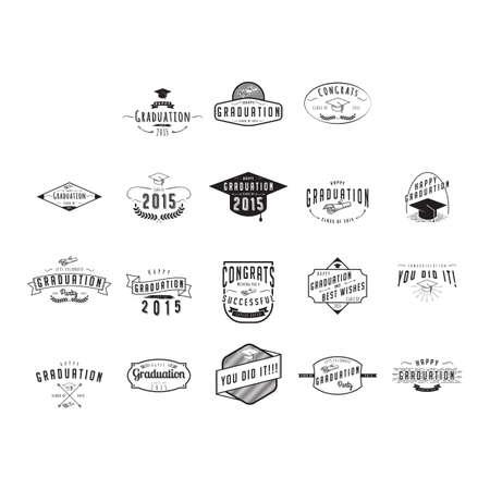 graduation labels collection
