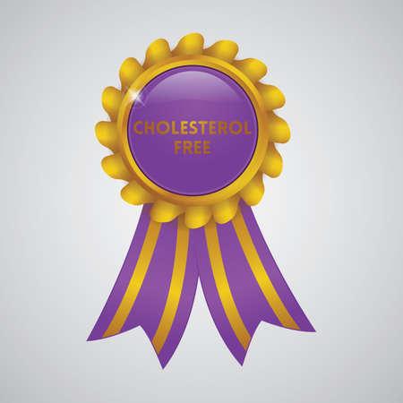 cholesterol free ribbon badge