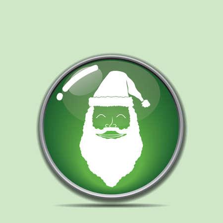 santa claus button Stock Vector - 81486728