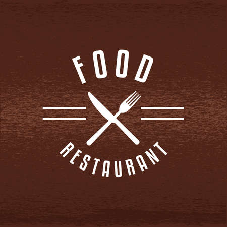A restaurant label illustration.