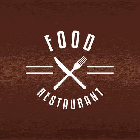 Une illustration d'étiquette de restaurant. Banque d'images - 81485954