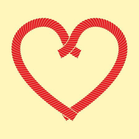 A ropes forming a heart illustration. Stok Fotoğraf - 81420206