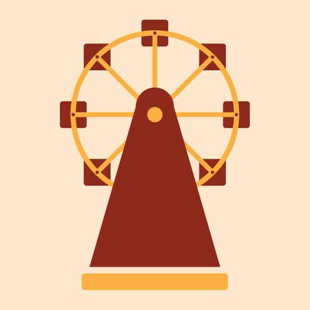 Una ilustración de la rueda de ferris. Foto de archivo - 81420209