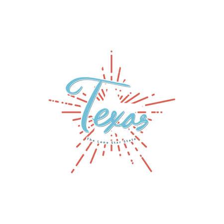 word texas Stock Vector - 106671652