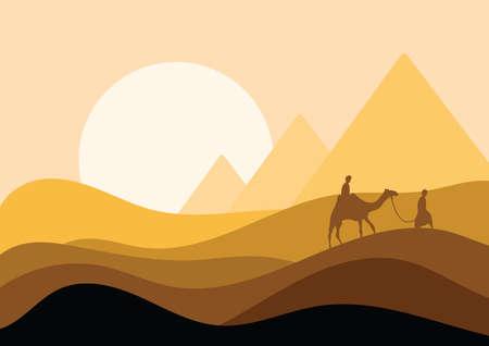 desert landscape  イラスト・ベクター素材