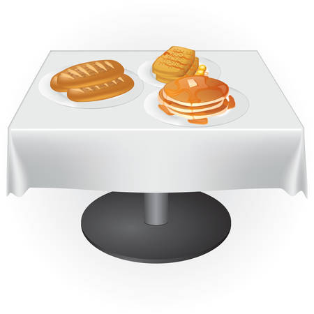 テーブルの上に食べ物