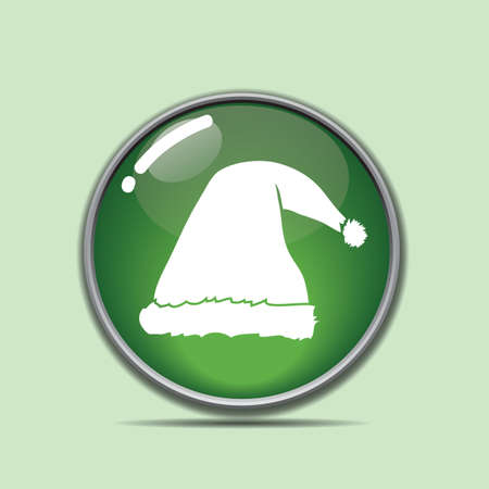 산타 모자 버튼 스톡 콘텐츠 - 81486726