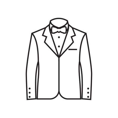 フォーマルなスーツのイラスト。