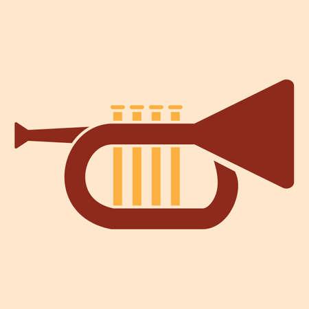 A trumpet illustration. Illusztráció