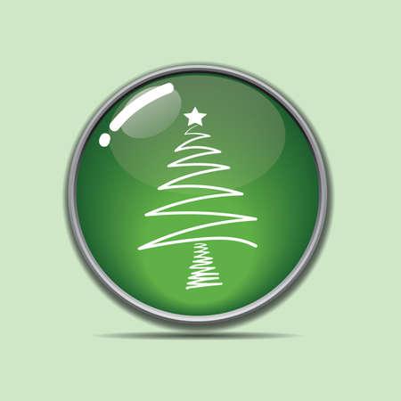 クリスマス ツリー] ボタン