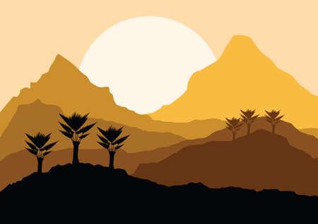 desert landscape 向量圖像