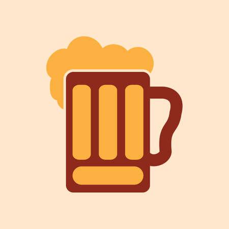 A beer in mug illustration.