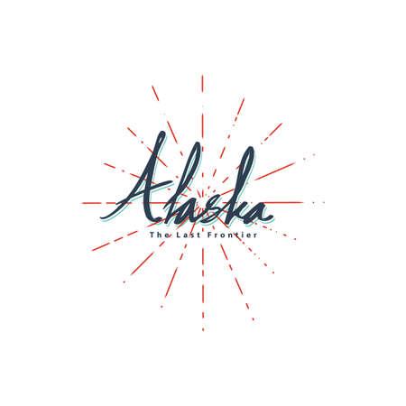word alaska Ilustração