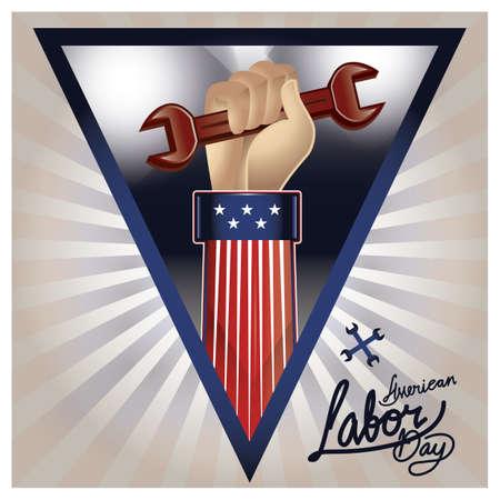 미국 노동절 포스터 일러스트