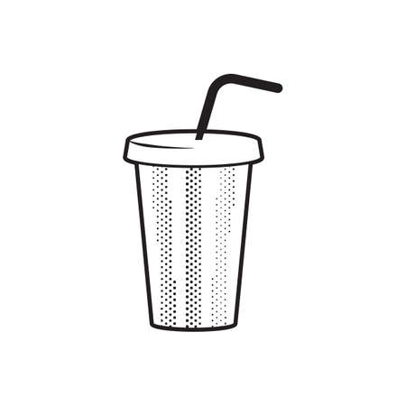 drink in paper cup Illustration
