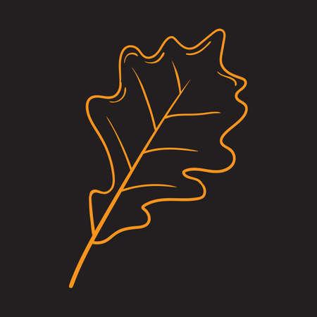 A fallen leaf illustration. Illustration