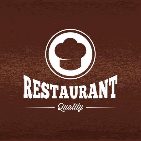 A restaurant label illustration.