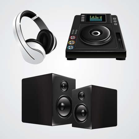 Collection d'équipement dj Banque d'images - 81487071