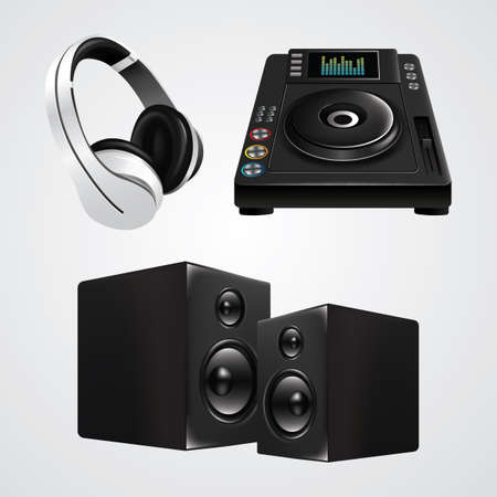 dj equipment collection Illustration