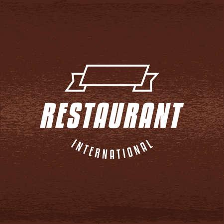 レストランのイラスト。