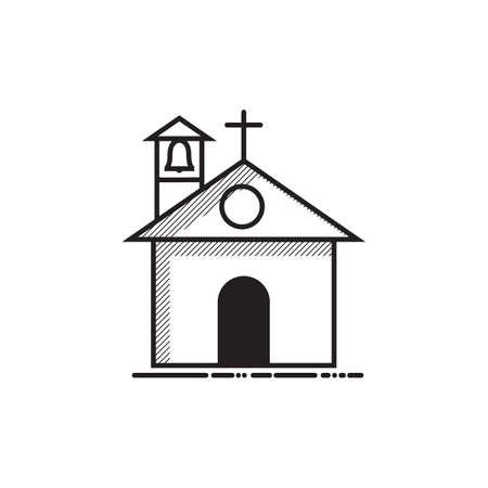 教会のイラスト。  イラスト・ベクター素材