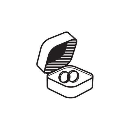 A wedding rings illustration.