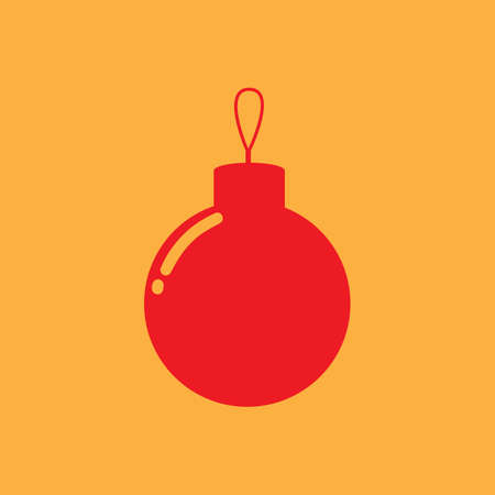 Christmas bauble illustration.