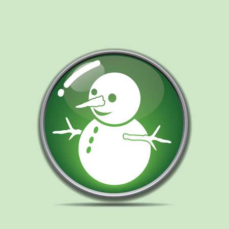 雪だるまのボタン