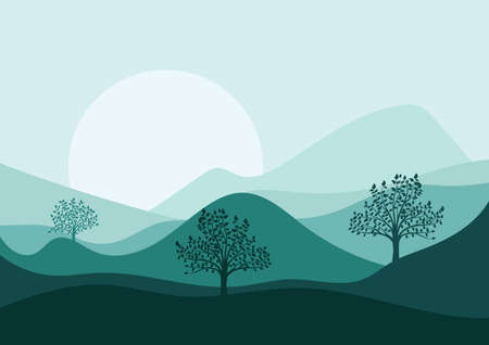 Berglandschaft Vektorgrafik