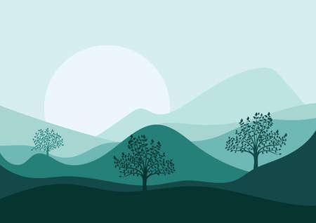 paisaje de montaña Ilustración de vector