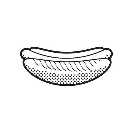 hot dog Ilustrace