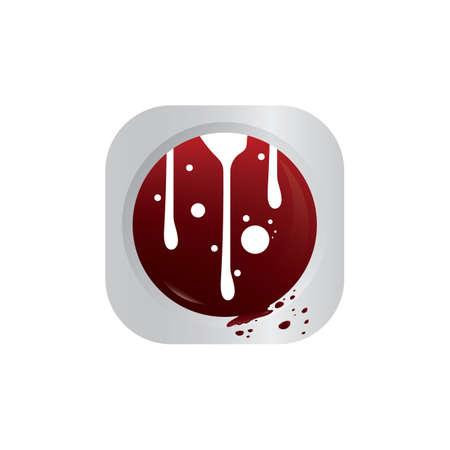 blood dripping Illustration