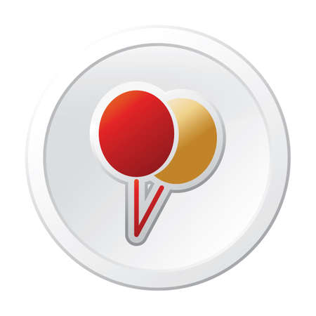 christmas balloon button