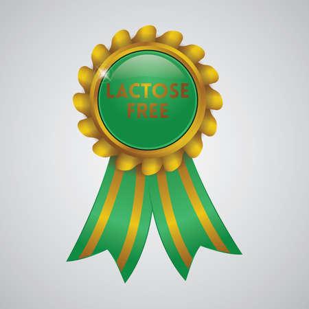 lactose free ribbon badge