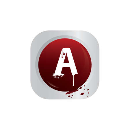 blood group a Vector Illustration