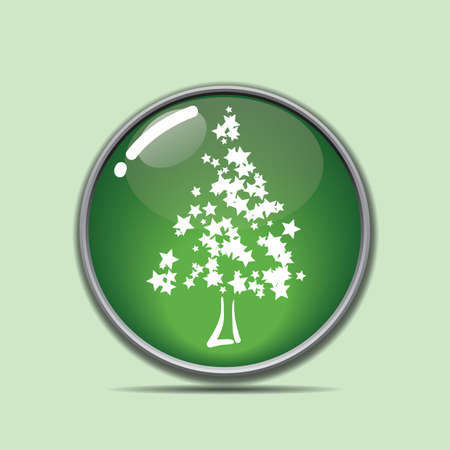 christmas tree button Stock Vector - 81486734