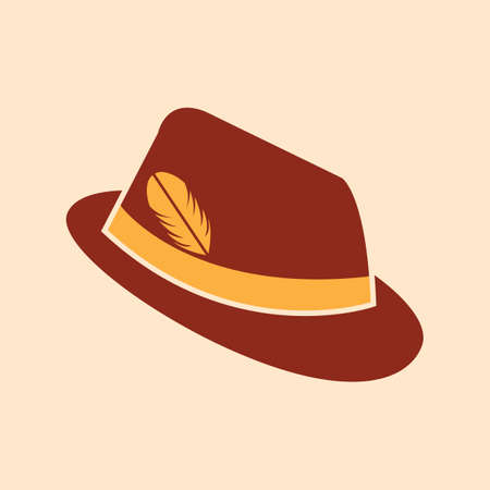 A german hat illustration. Illustration