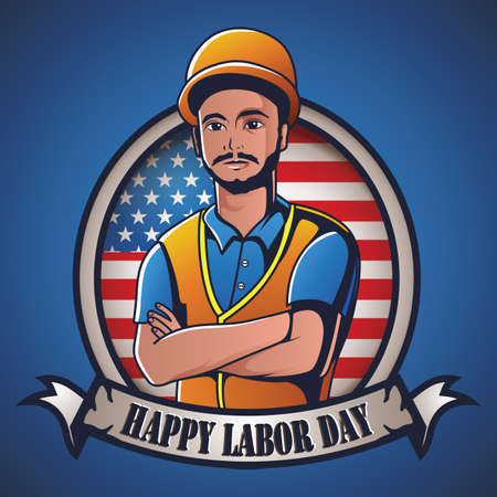 labor day label Çizim