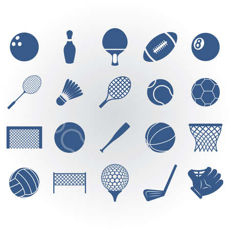 Set of sports icons Illusztráció