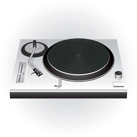 dj mixer turntable Illustration