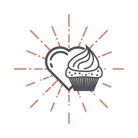 heart and a cupcake